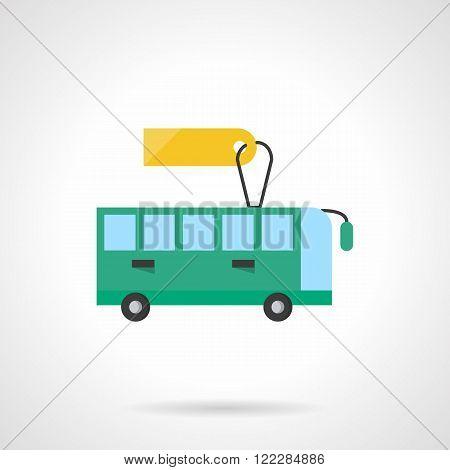 Passenger transportation flat color vector icon