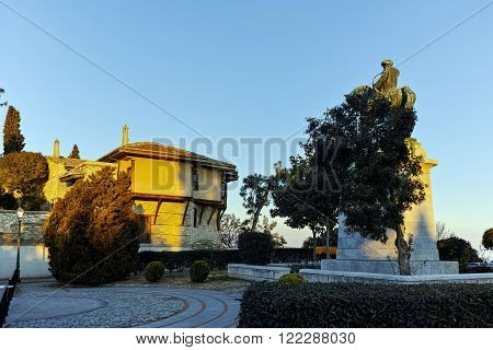 Muhammad Ali of Egypt monument and old town in Kavala, East Macedonia and Thrace, Greece