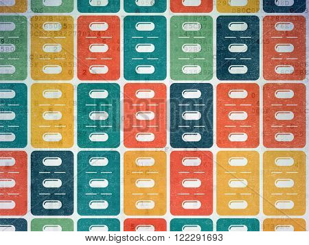 Health concept: Pills Blister icons on Digital Paper background
