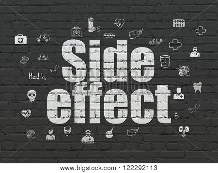 Healthcare concept: Side Effect on wall background