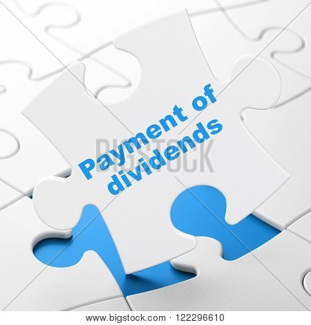Banking concept: Payment Of Dividends on puzzle background