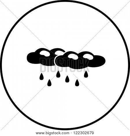 raining clouds symbol