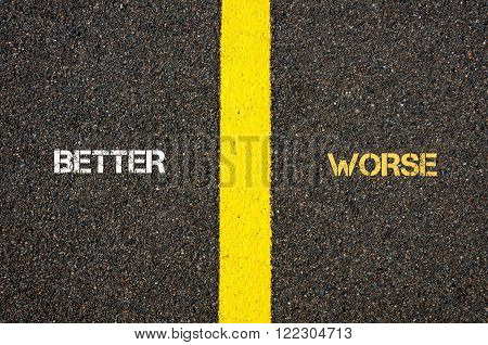 Antonym Concept Of Better Versus Worse