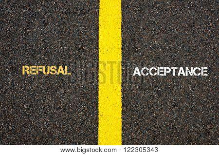 Antonym Concept Of Refusal Versus Acceptance