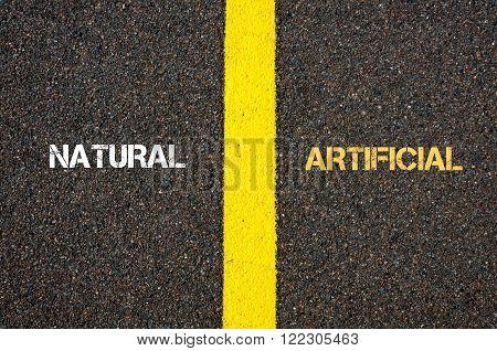 Antonym Concept Of Natural Versus Artificial