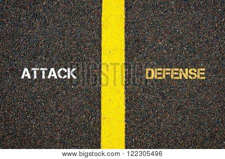 Antonym Concept Of Attack Versus Defense