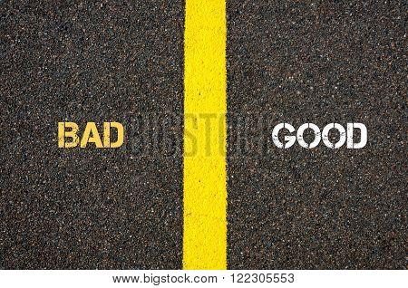 Antonym Concept Of Bad Versus Good