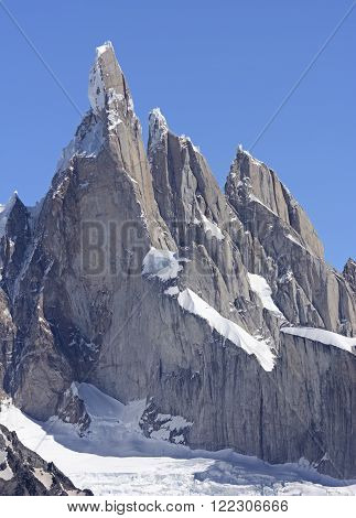 Pinnacles in the Andes in Los Glaciares National Park in Argentina