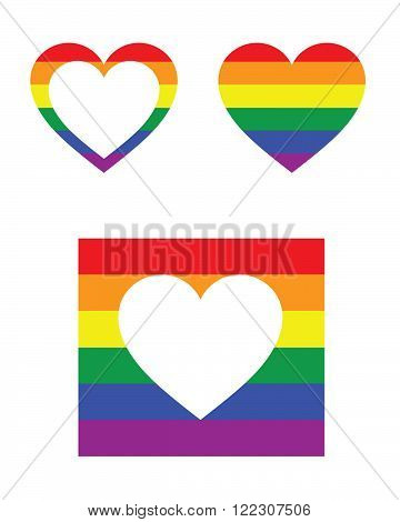 Vector Gay Pride Icons and Frame Set