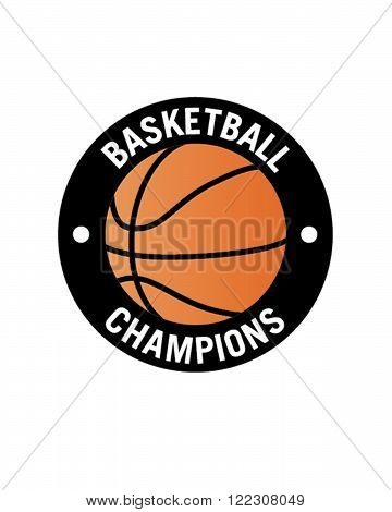 Vector Basketball Championship Emblem and Icon in Colour
