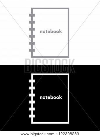 Vector Notebook Set in Black and Reverse