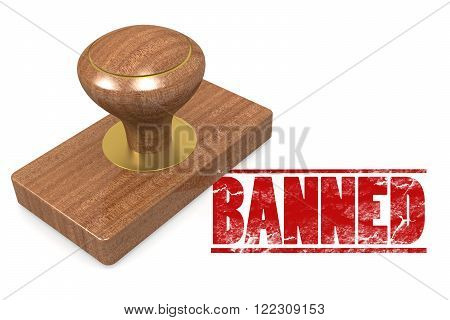 Banned Wooded Seal Stamp