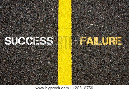 Antonym Concept Of Success Versus Failure