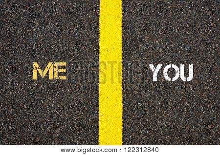 Antonym Concept Of Me Versus You
