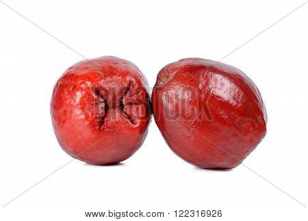 Pomerac, Malay apple, isolated on white background.