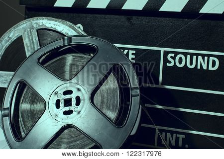 Close-up Reel Of Film Against