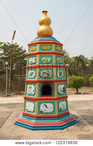 The octagon stove in the chinese tabernacle
