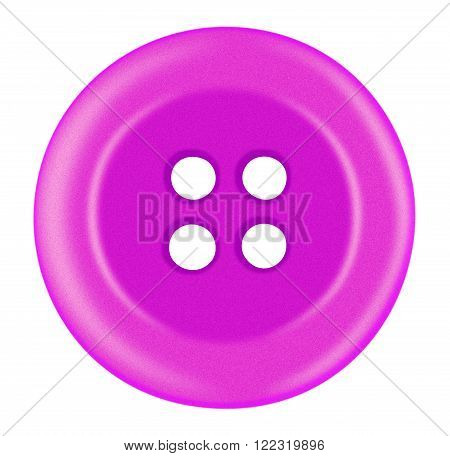 Plastic Button Isolated - Pink
