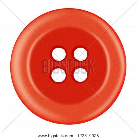 Plastic Button Isolated - Red