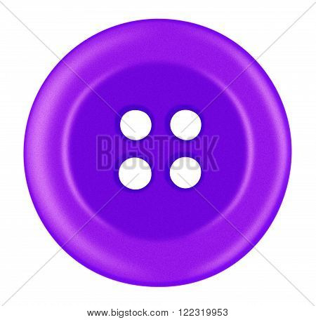 Purple Plastic button isolated on white with Clipping Path