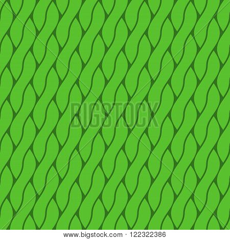 Abstract braids form a seamless green background.