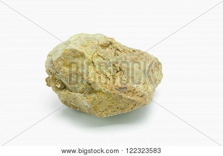 Stones on white background. Natural minerals mined in Thailand.