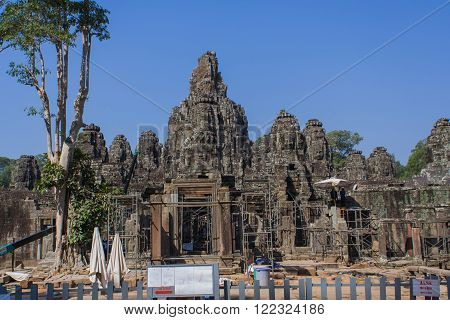 Angkor Wat Temple In Cambodia.