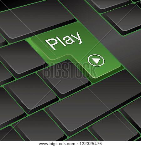 vector keyboard. key play