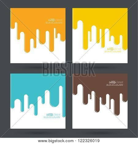 Set Abstract background with streaks, drops waves. For Advertising, product presentations