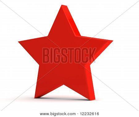 red matte star