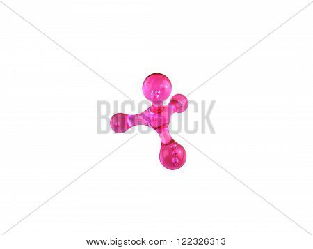pink manual masseur for a body on a white background