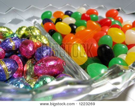 Easter Jellybean & Chocolate Dish