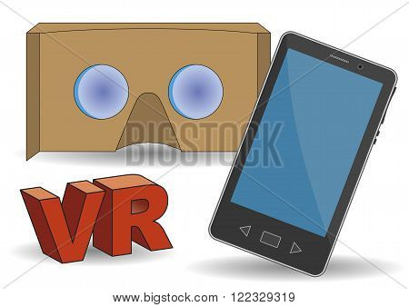 Vr Cardboard Glasses With Mobile Phone
