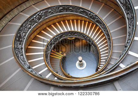 Vatican spiral stairs in the Vatican museum