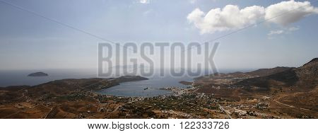 bird's eye view of the island. Greece panorama 