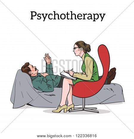 Counselling and assistance of a psychologist. Patients problem