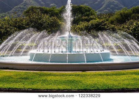 Water Fountain in Waikiki area of Hawaii