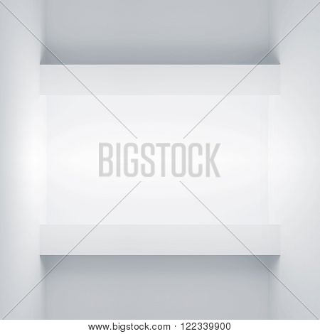 Wall With Empty Light Niche. 3D Illustration