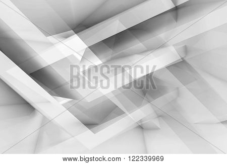 Chaotic Geometric Structures, 3D Illustration