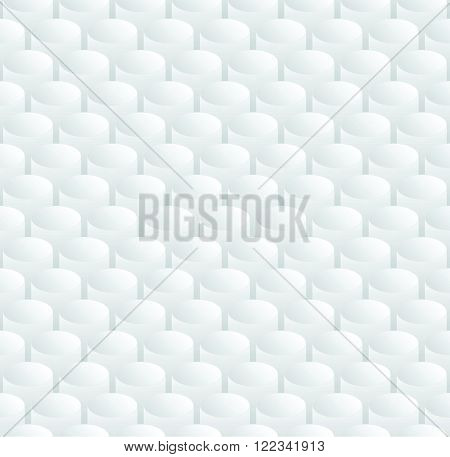 Simple gray repeating buttons background - abstract volumetric illusion vector seamless pattern