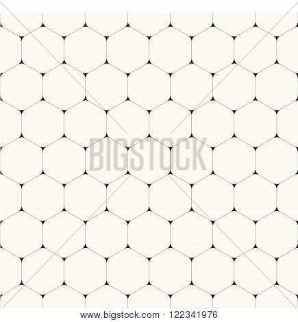 Simple clean modern volumetric hexagonal background - vector seamless pattern