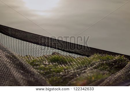 Landing Net Sunset, Fishing Net, Empty Landing Net, FishNet