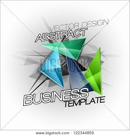 Sharp Triangles On The Abstract Background. Vector Busines Template.