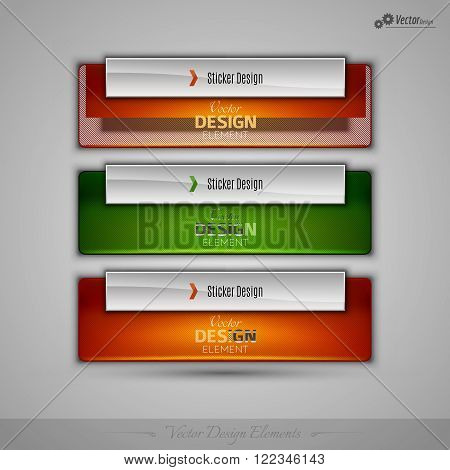 Vector Business Banners Editable Design Elements For Infographics And Webdesign