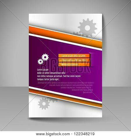 Brochure Template. Editable A4 Poster For Design, Presentation, Magazine Cover