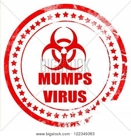 Mumps virus concept background with some soft smooth lines