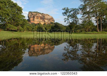 Archaeological site  of Sigiriya on Sri Lanka Unesco world heritage