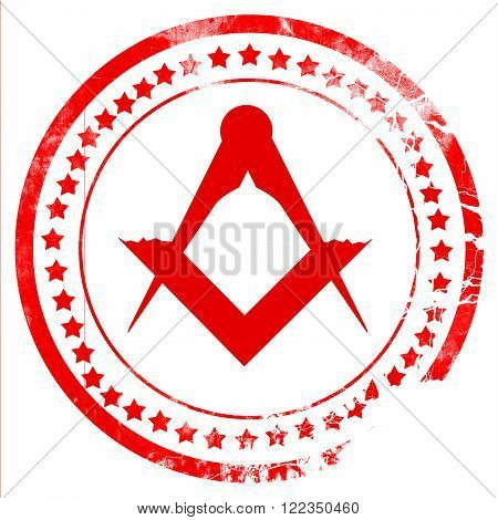 Masonic freemasonry symbol with some soft smooth lines