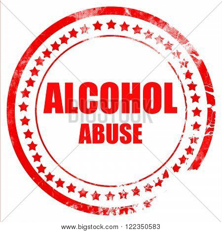 Alcohol abuse sign with some soft flowing lines