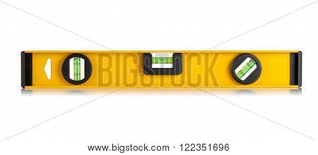 yellow construction level on a white background